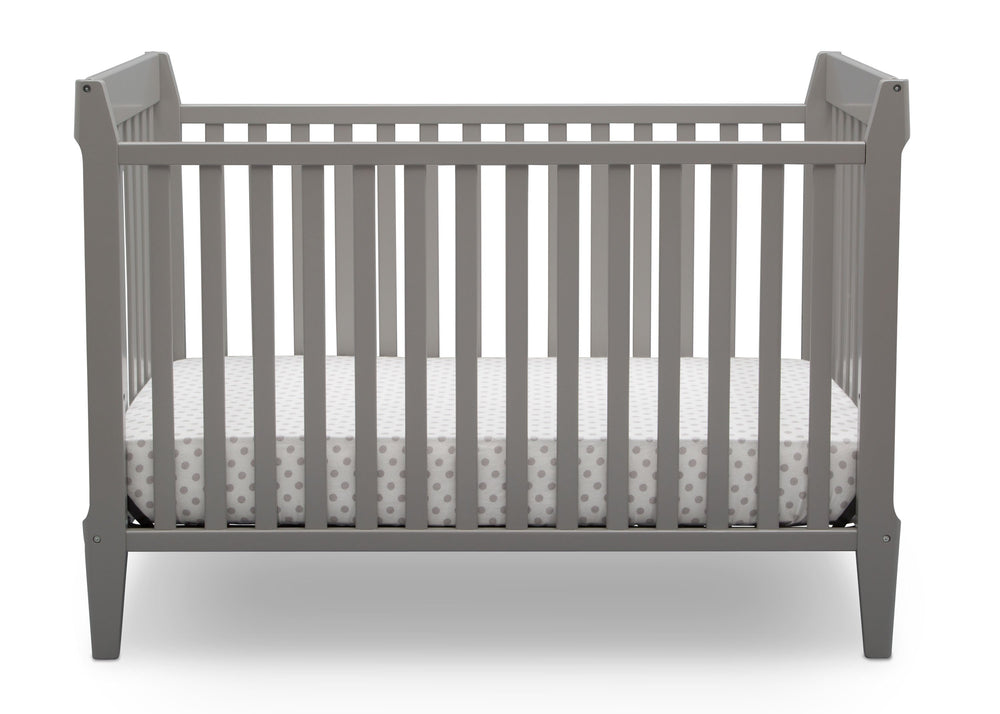 Serta Mid-Century Modern Classic 5-in-1 Convertible Crib Grey (026) Front a3a