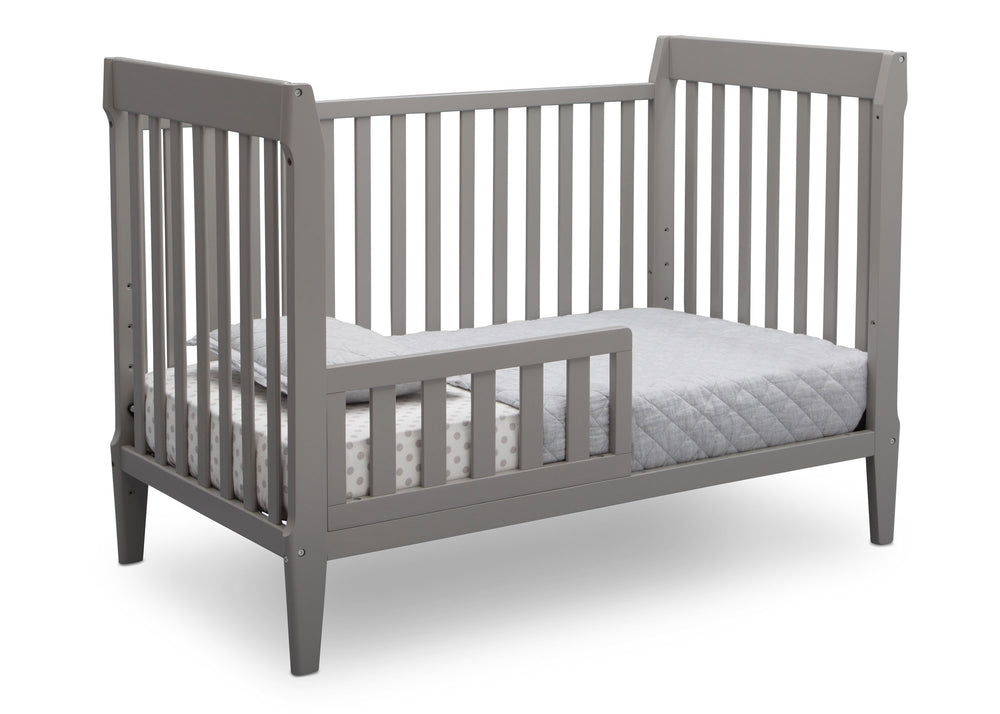 Serta Mid-Century Modern Classic 5-in-1 Convertible Crib Grey (026) Toddler Bed a4a