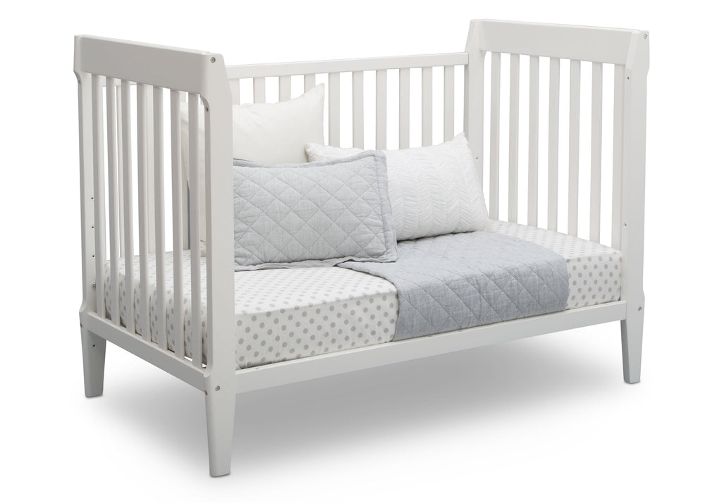 Serta Mid-Century Modern Classic 5-in-1 Convertible Crib Bianca (130) Daybed b5b