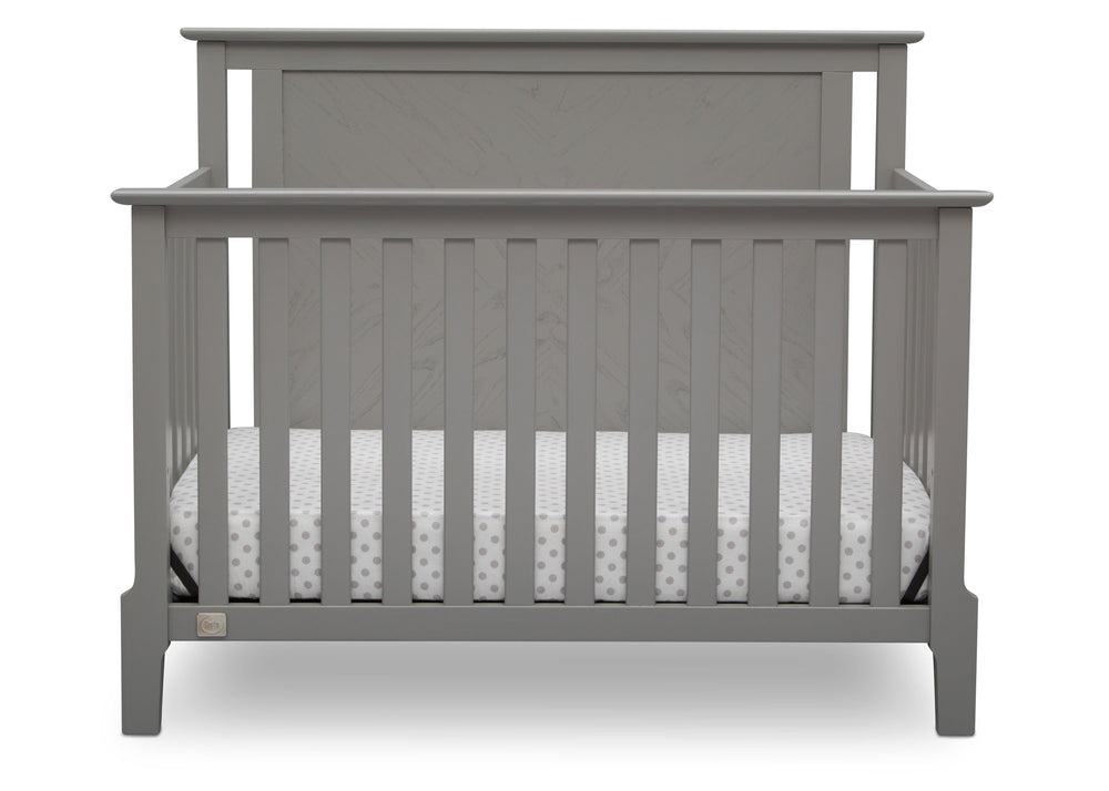 Serta Mid-Century Modern Lifestyle 4-in-1 Crib Grey (026) Front a3a