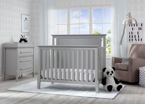 Serta Mid-Century Modern Lifestyle 4-in-1 Crib Grey (026) Room View a1a
