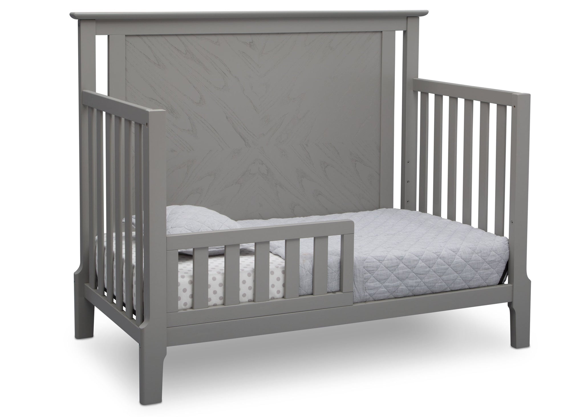 Serta Mid-Century Modern Lifestyle 4-in-1 Crib Grey (026) Toddler Bed a4a