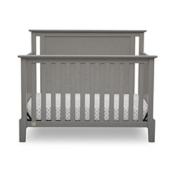 Mid-Century Modern Lifestyle 4-in-1 Convertible Crib (Grey) - bundle