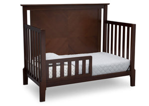 Serta Mid-Century Modern Lifestyle 4-in-1 Crib Walnut Espresso (1324) Toddler Bed c4c