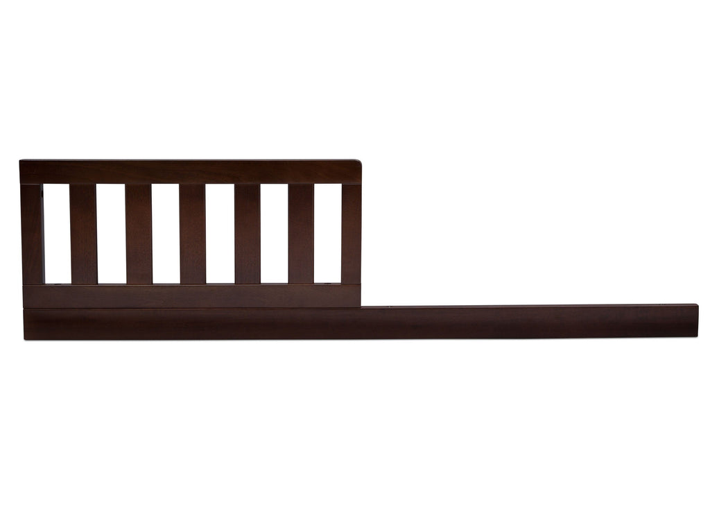 Serta Daybed/Toddler Guardrail Kit (707726) Walnut Espresso (1324) Front c1c  for Mid-Century Modern Lifestyle 4-in-1 Convertible Crib