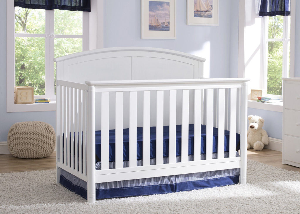 Delta Children White (100) Somerset 4-in-1 Crib, Hangtag