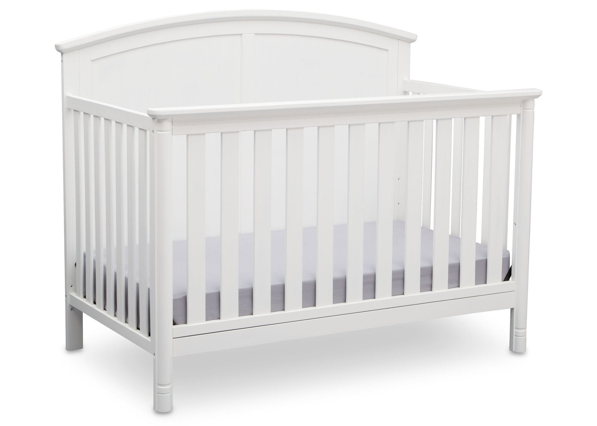 Delta Children White (100) Somerset 4-in-1 Crib Side View, Crib Conversion a3a