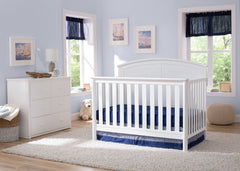 Delta Children White (100) Somerset 4-in-1 Crib in Setting a1a