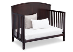 Delta Children Dark Chocolate (207) Somerset 4-in-1 Crib Side View, Day Bed Conversion b6b