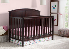 Delta Children Dark Chocolate (207) Somerset 4-in-1 Crib in Setting 1 b2b