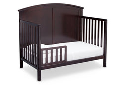 Delta Children Dark Chocolate (207) Somerset 4-in-1 Crib Side View, Toddler Bed Conversion b5b
