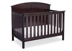 Delta Children Dark Chocolate (207) Somerset 4-in-1 Crib Side View, Crib Conversion b4b