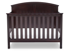 Delta Children Dark Chocolate (207) Somerset 4-in-1 Crib Front View, Crib Conversion b3b