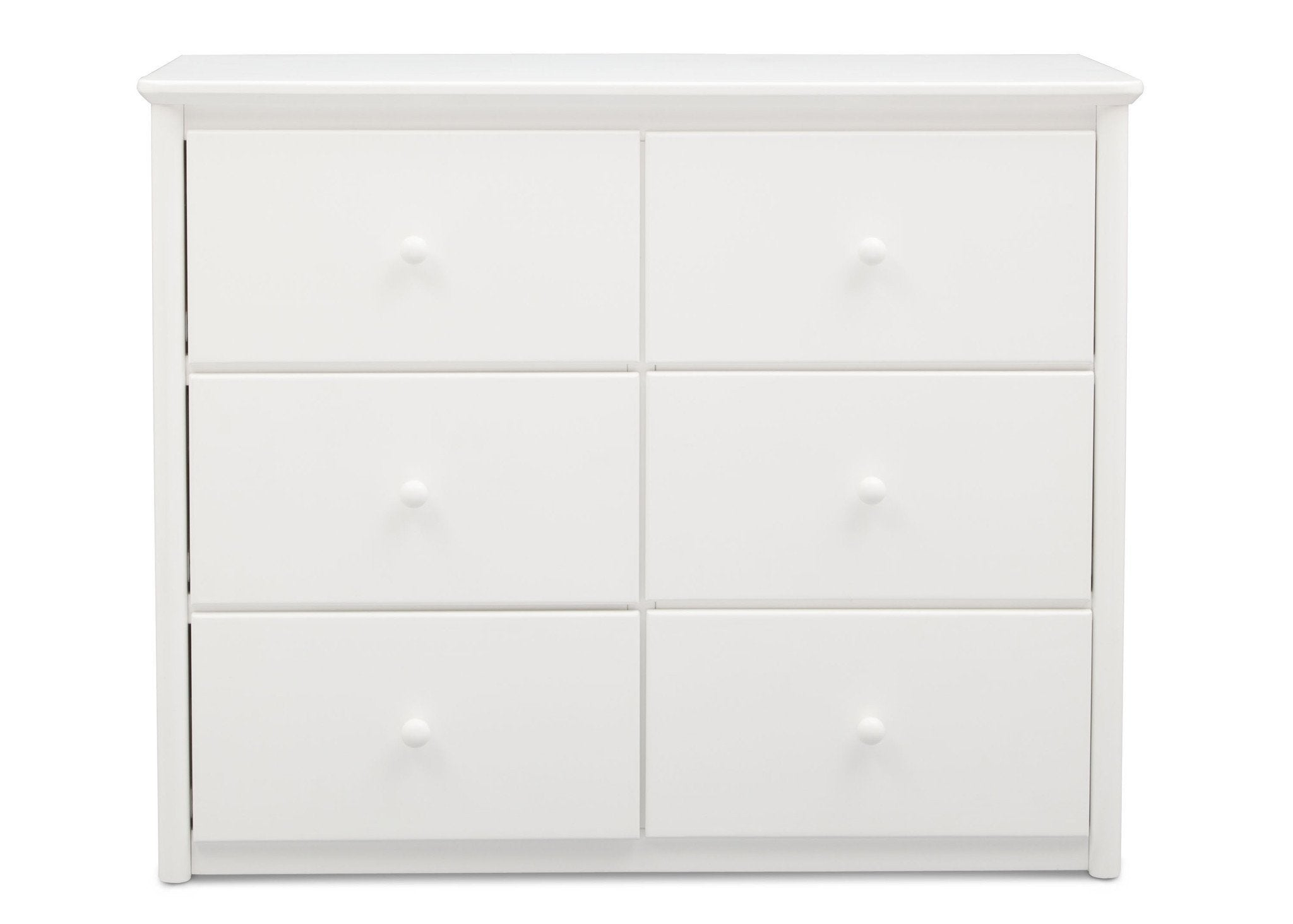 Delta Children White (100) Somerset 6 Drawer Dresser Front View a1a