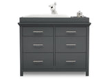 Delta Children Charcoal Grey (029) Avery 6 Drawer Dresser (708060), Silo with Topper, a2a