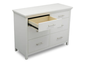 Delta Children Bianca White (130) Avery 6 Drawer Dresser (708060), Detail, b4b