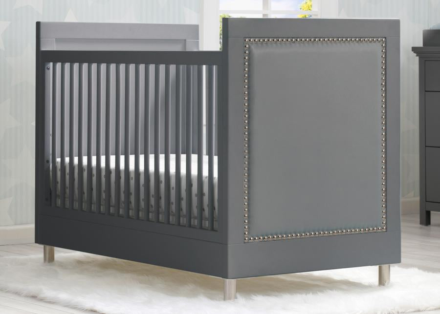 Delta Children Charcoal Grey (1323) Avery 3-in-1 Convertible Crib (708130), Hangtag View