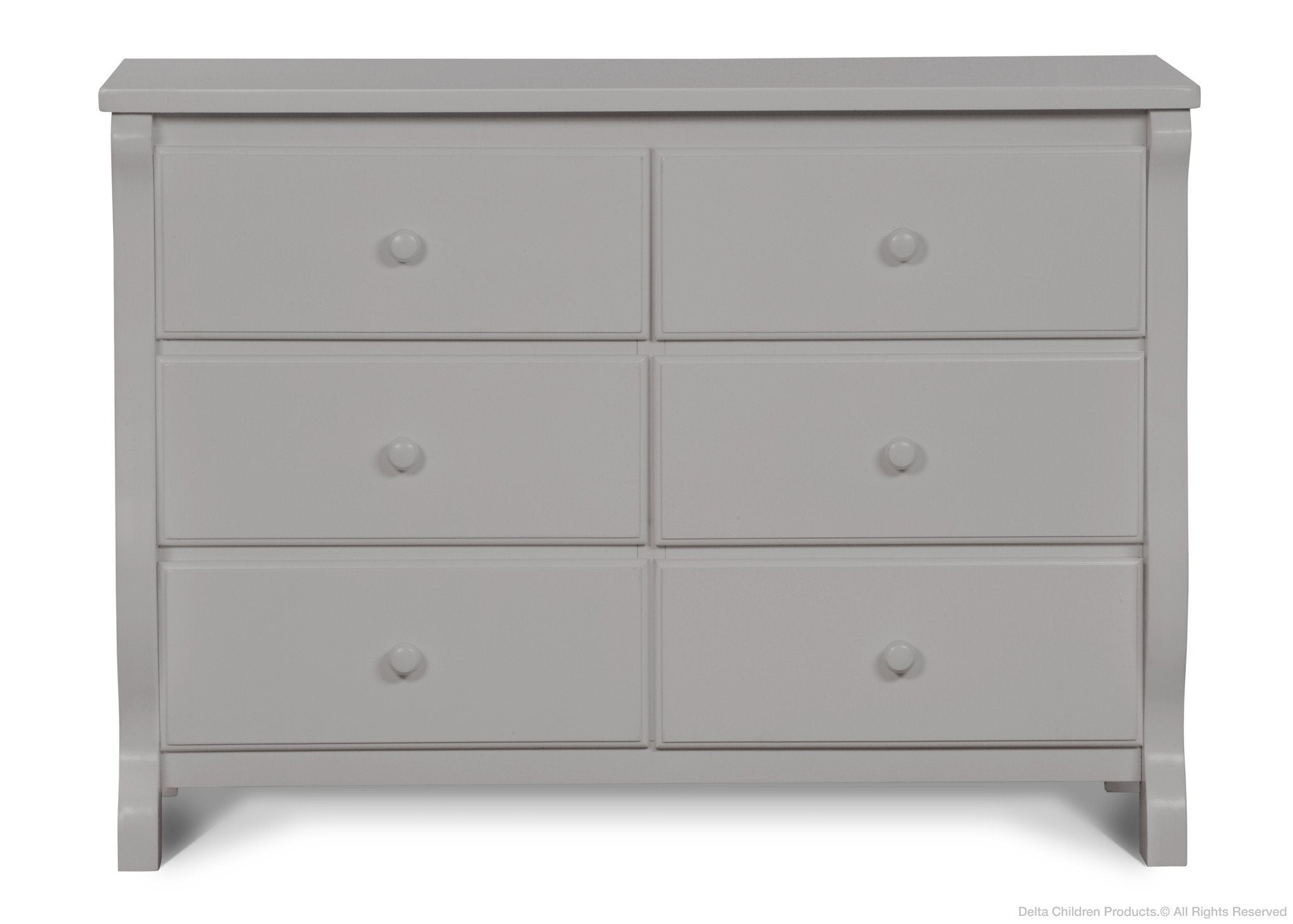 Delta Children Grey (026) Canton / Eclipse Dresser Front View b1b