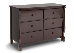 Delta Children Dark Chocolate (207) Canton / Eclipse Dresser Side View e1e