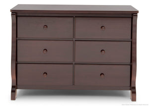 Delta Children Black Cherry Espresso (607) Canton / Eclipse Dresser Front View g1g