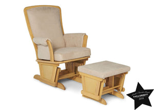 Delta Children Natural/Wheat (296) Glider and Ottoman, With Seal b2b