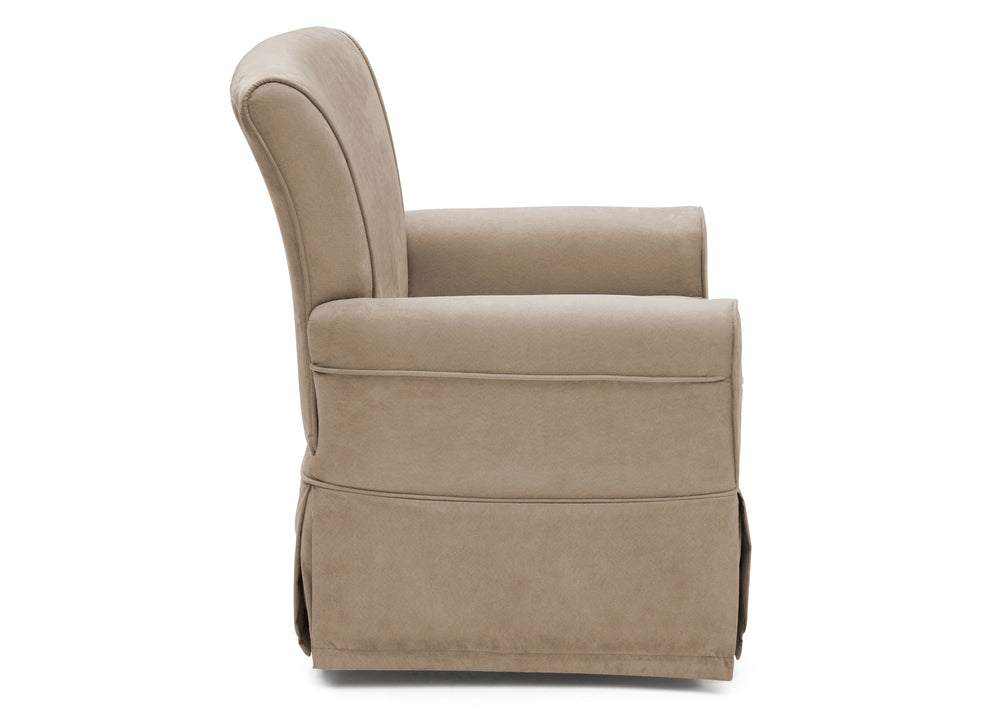 Delta Children Beige (276) Benbridge Glider, side view f2f