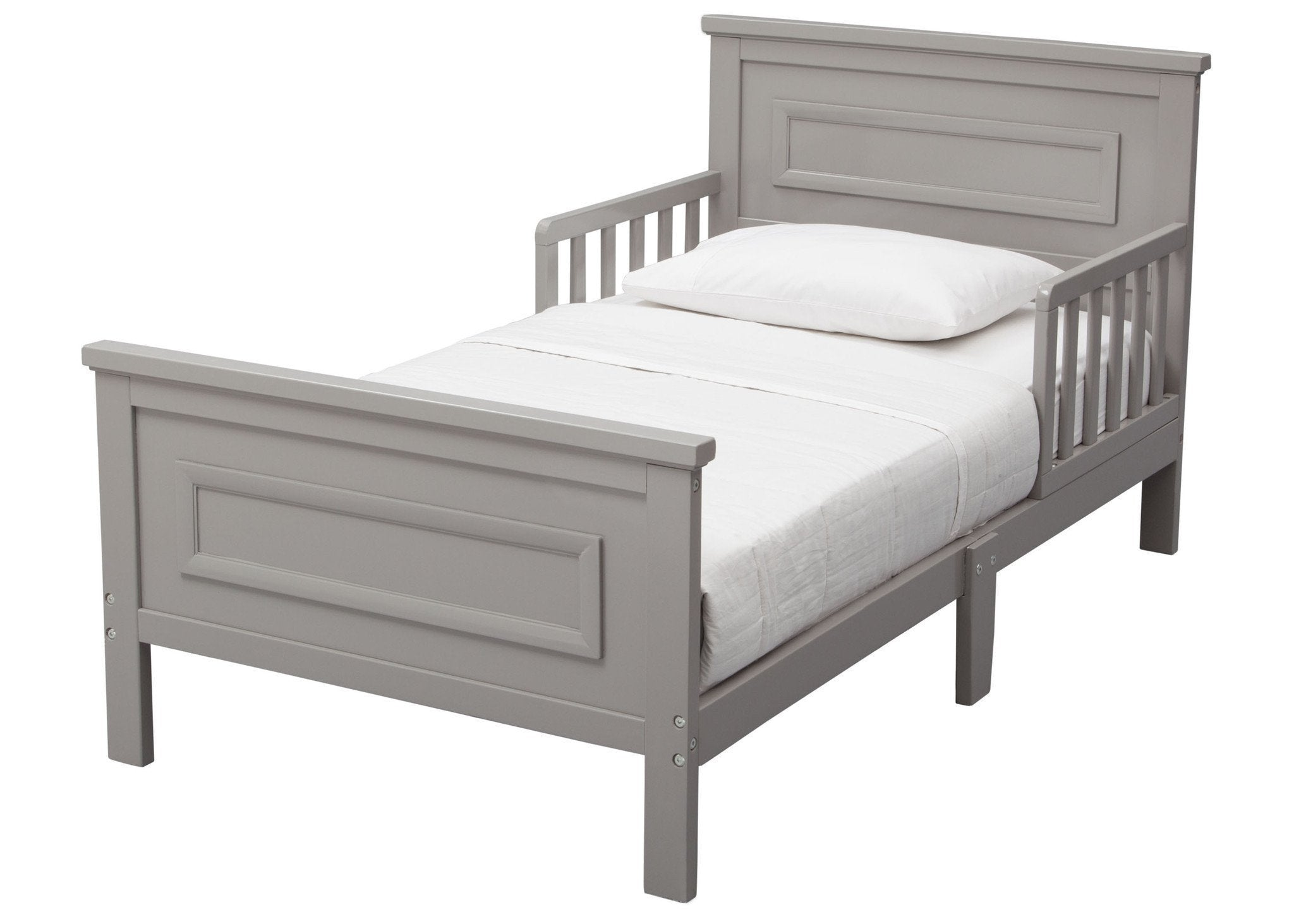 Delta Children Grey (026) Next Steps Toddler Bed, Left Side View a3a
