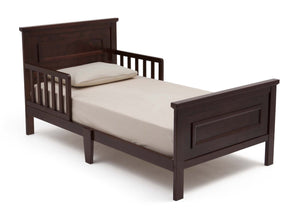 Delta Children Black Cherry Espresso (607) Classic Toddler Bed, Right Side View a2a