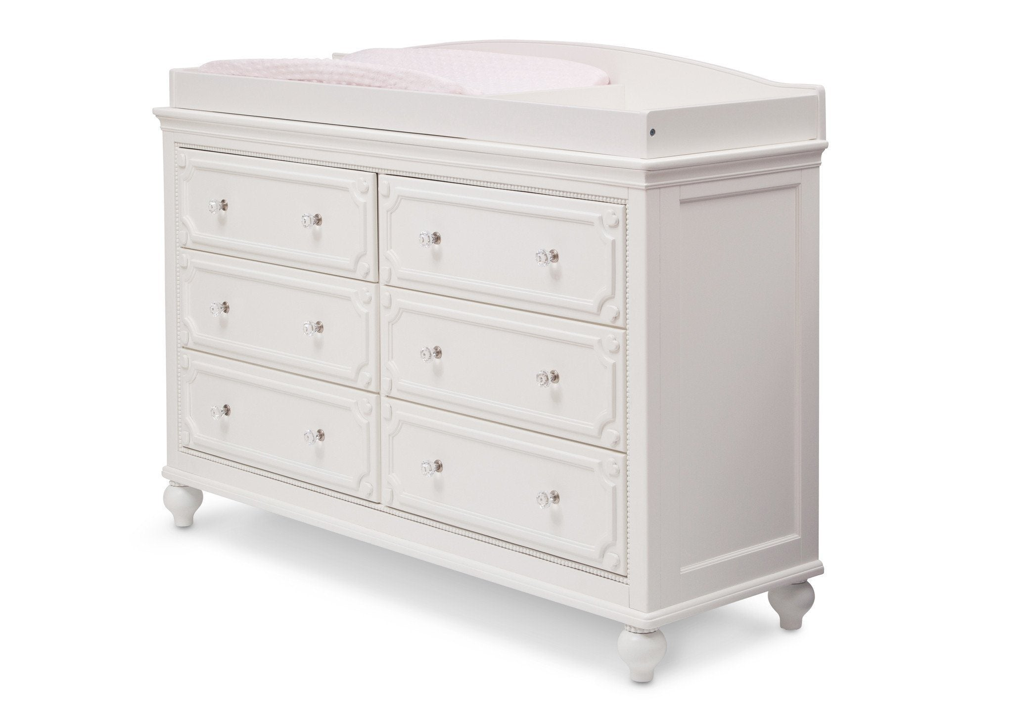 Delta Children White Ambiance (108) Princess Changing Top Side View a3a