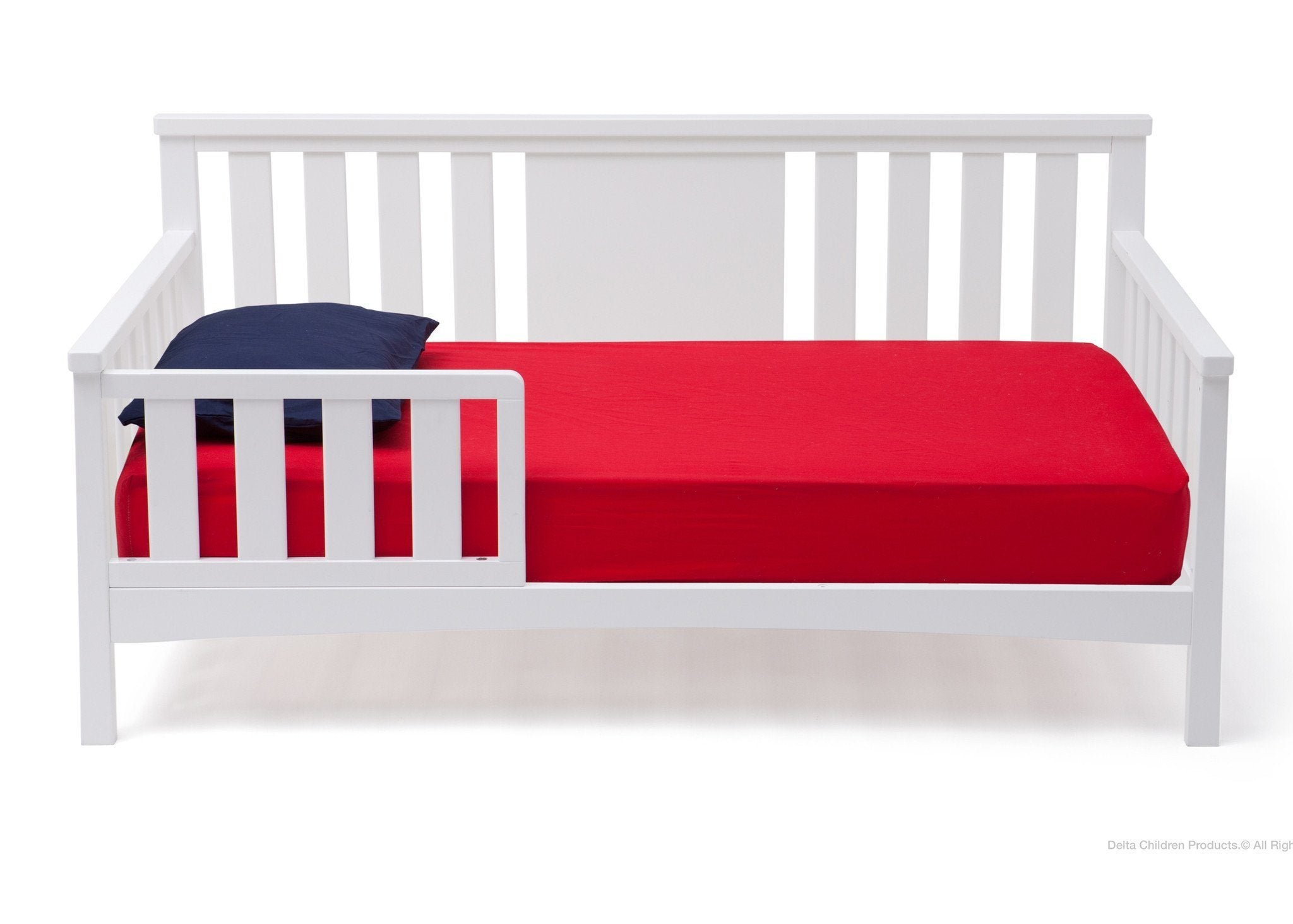 Delta Children White (100) Solutions Toddler Daybed Front View a2a