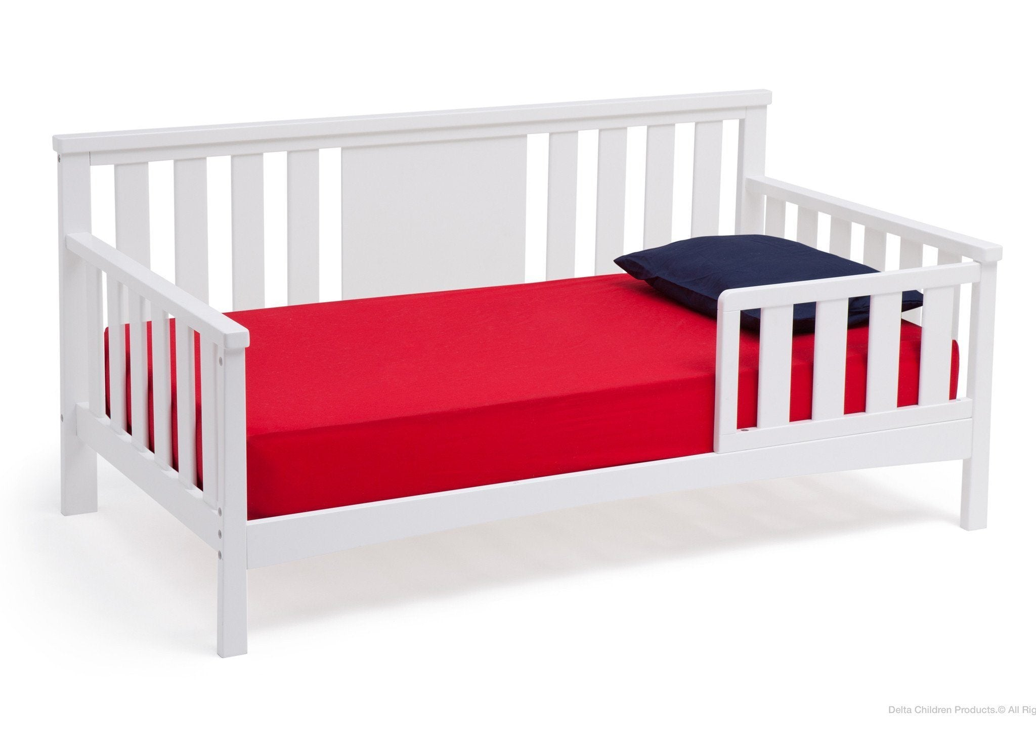 Delta Children White (100) Solutions Toddler Daybed Side View a3a