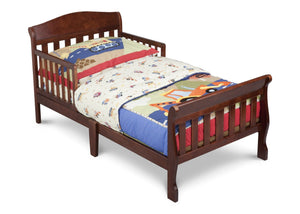 Delta Children Canton Toddler Bed Dark Cherry (604) Right Side View a2a