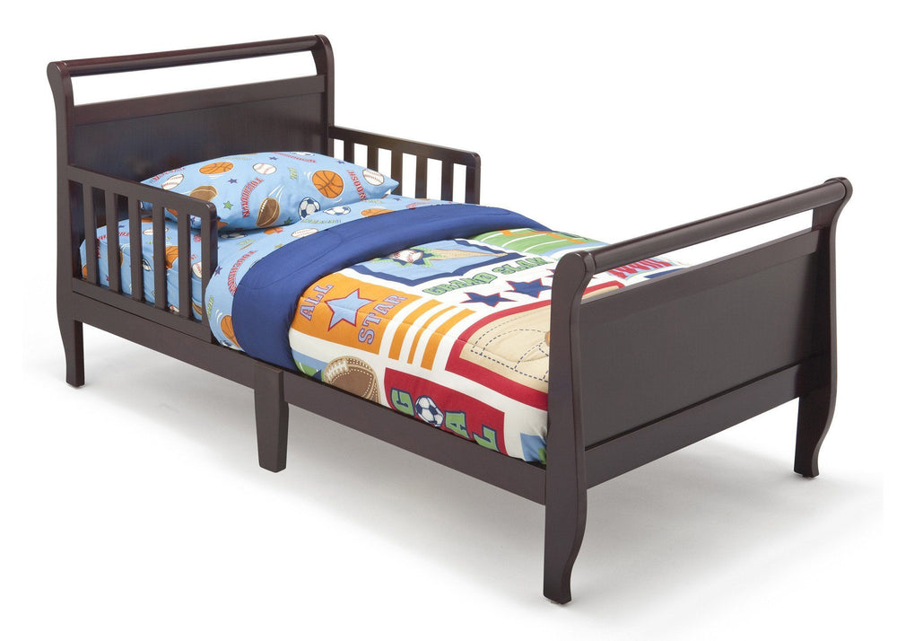 Delta Children Black Cherry Espresso (607) Contemporary Toddler Bed Right Side View a1a