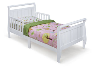 Delta Children White (100) Style #1Toddler Bed, Right Side View a1a