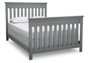 Delta Children Grey (026) Chalet 4-in-1 Crib, angled conversion to full size bed, d6d