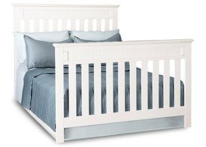 Delta Children White Ambiance (108) Chalet 4-in-1 Crib, Full-Size Bed Conversion b4b
