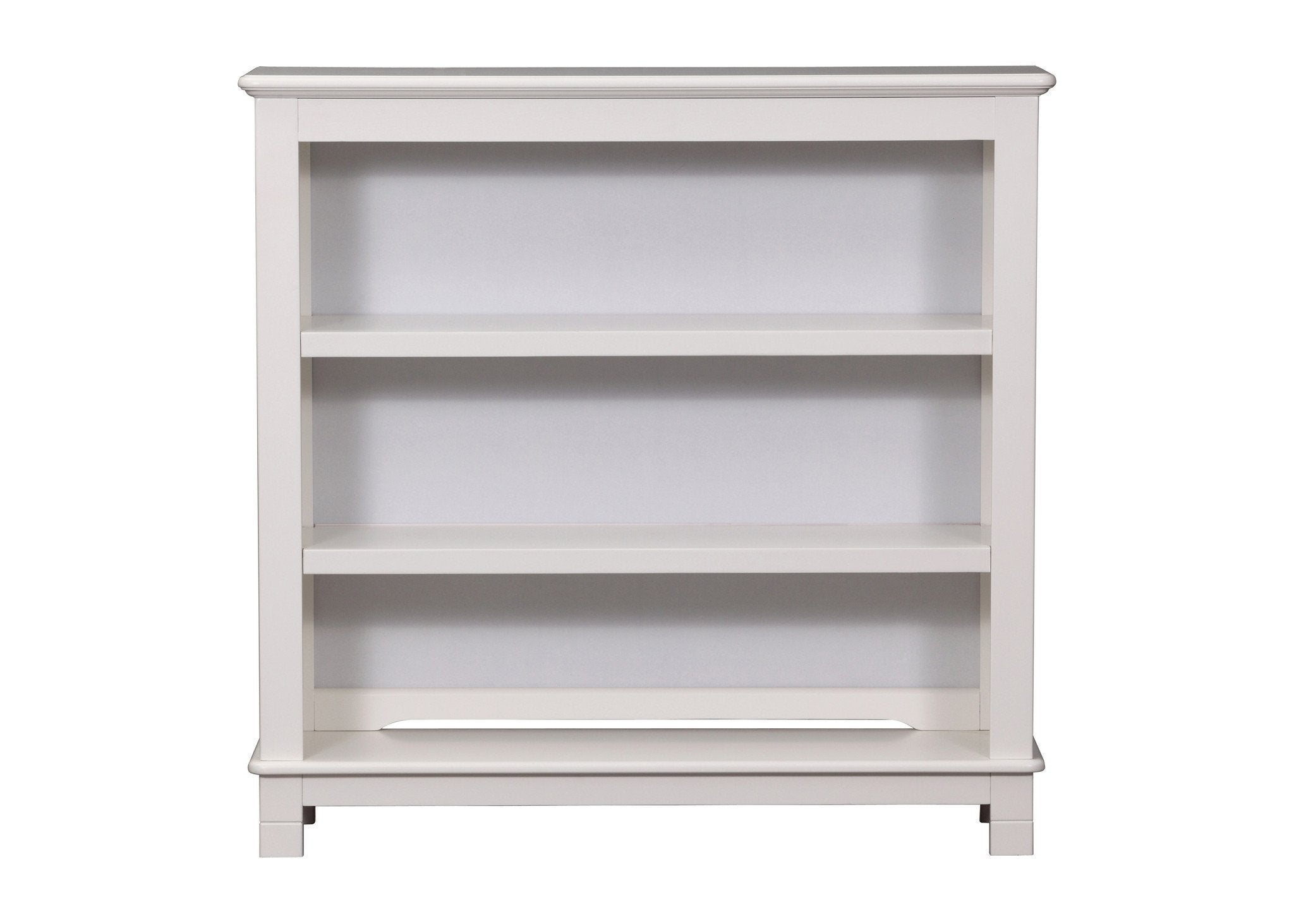 Delta Children White Ambiance (108) Chalet Bookcase/Hutch with Base Attached a2a