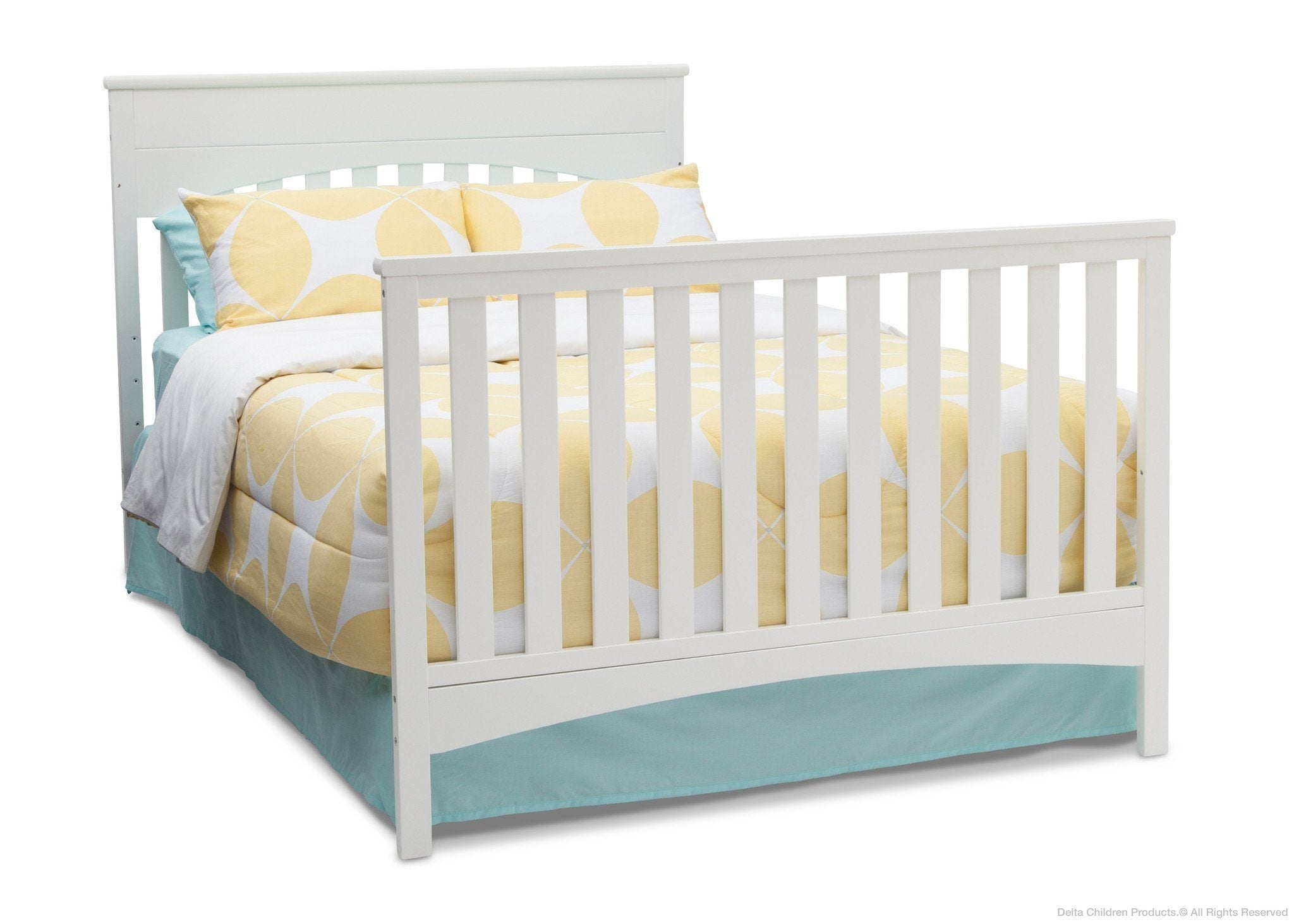 Delta Children White Ambiance (108) Bennington Lifestyle 4-in-1 Crib, Full-Size Bed Conversion a6a