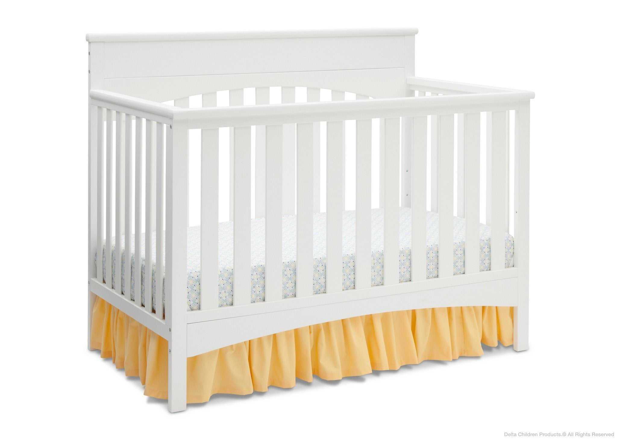 Delta Children White Ambiance (108) Bennington Lifestyle 4-in-1 Crib, Crib Conversion