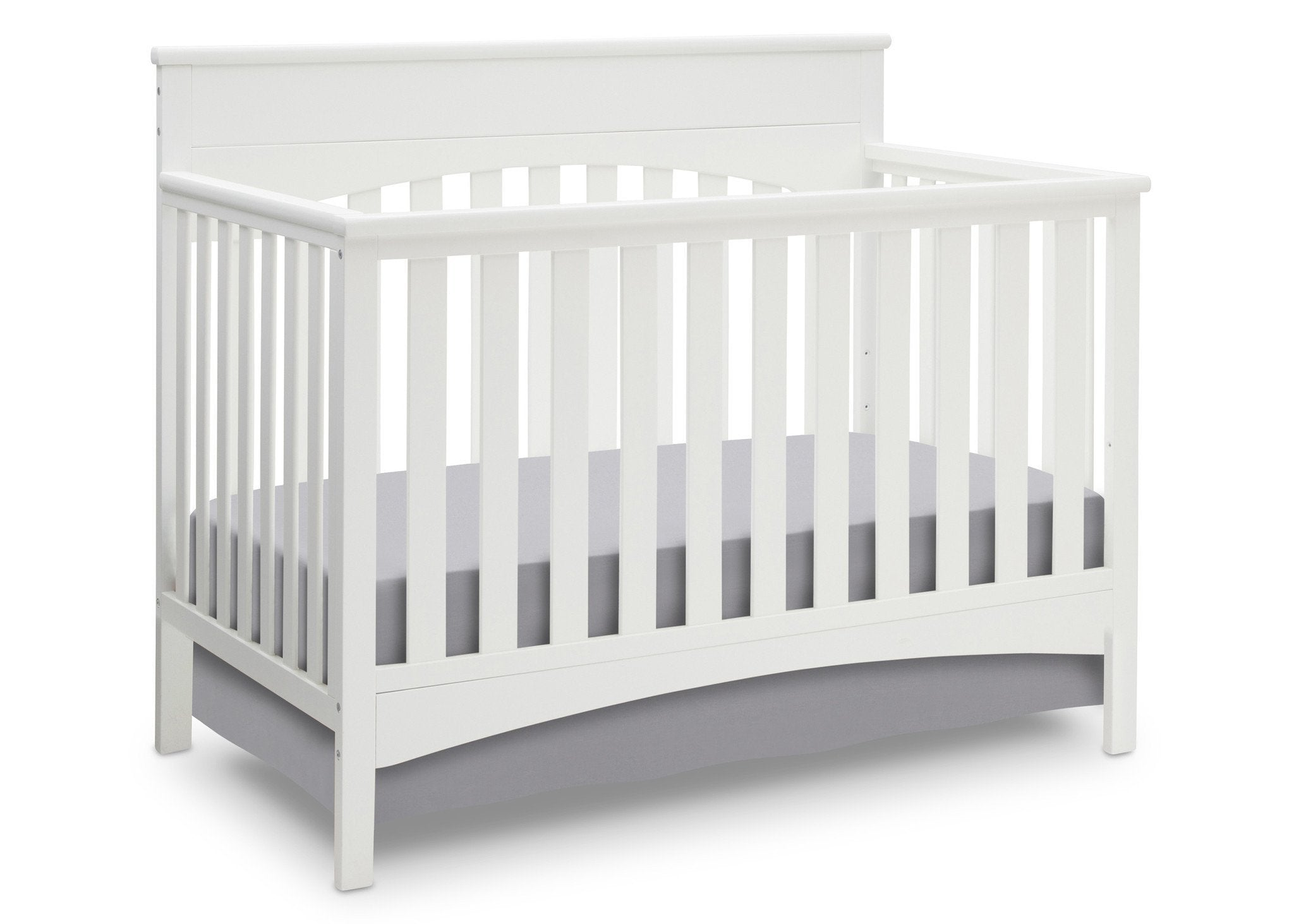 Delta Children White Ambiance (108) Bennington Lifestyle 4-in-1 Crib, Crib Conversion a3a