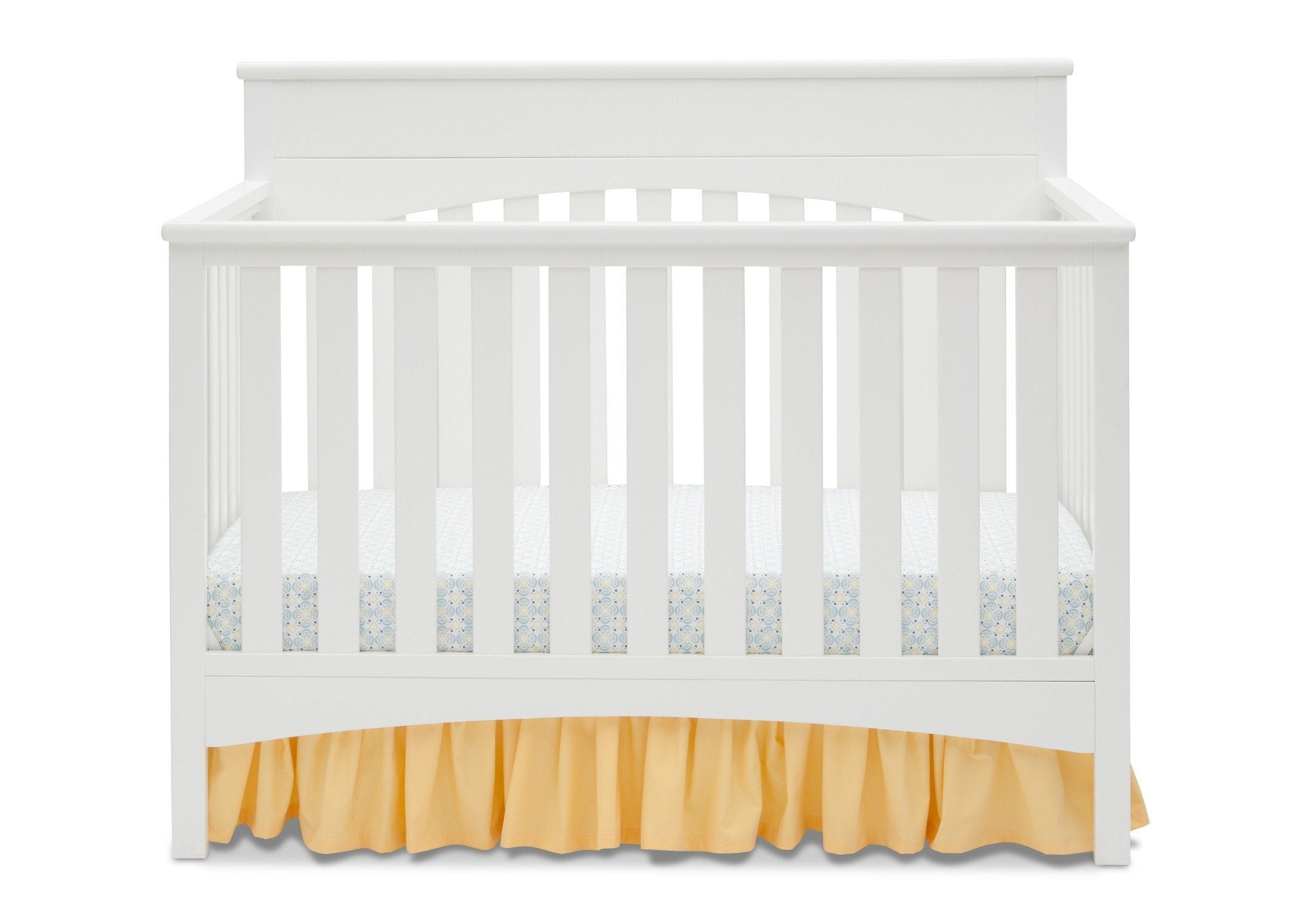 Delta Children White Ambiance (108) Bennington Lifestyle 4-in-1 Crib, Crib Conversion Front View a2a