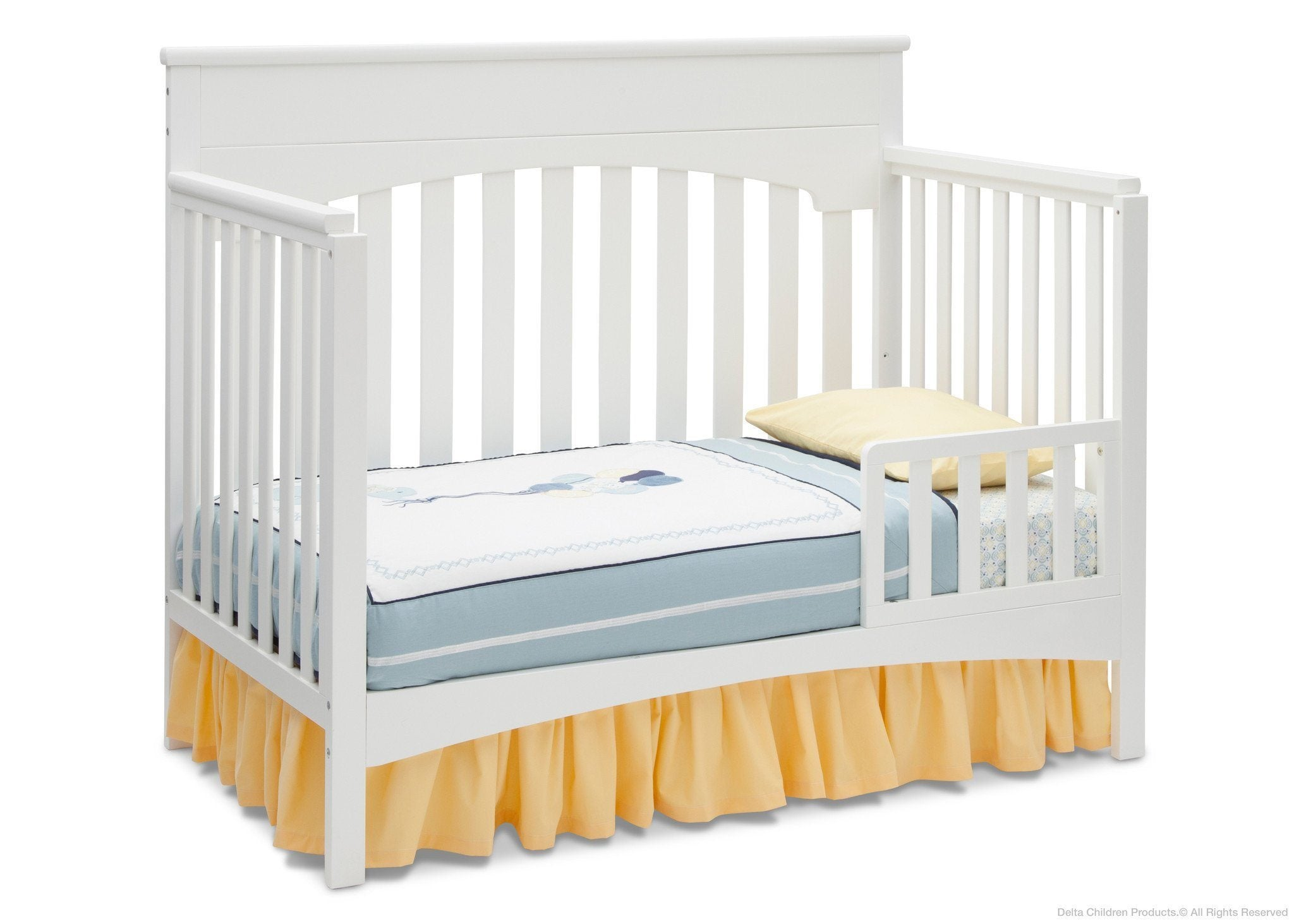 Delta Children White Ambiance (108) Bennington Lifestyle 4-in-1 Crib, Toddler Bed Conversion a4a