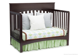 Delta Children Dark Chocolate (207) Bennington Lifestyle 4-in-1 Crib, Day Bed Conversion b4b