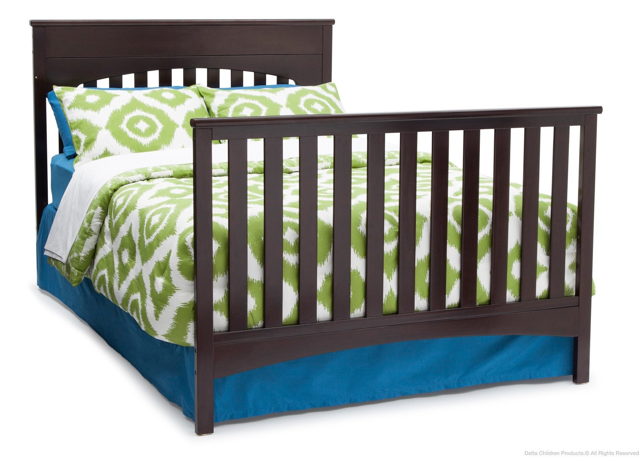 Delta Children Dark Chocolate (207) Bennington Lifestyle 4-in-1 Crib, Full-Size Bed Conversion b5b