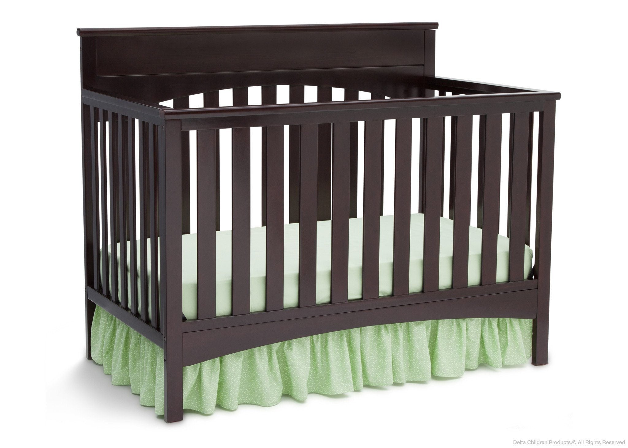 Delta Children Dark Chocolate (207) Bennington Lifestyle 4-in-1 Crib, Crib Conversion b2b