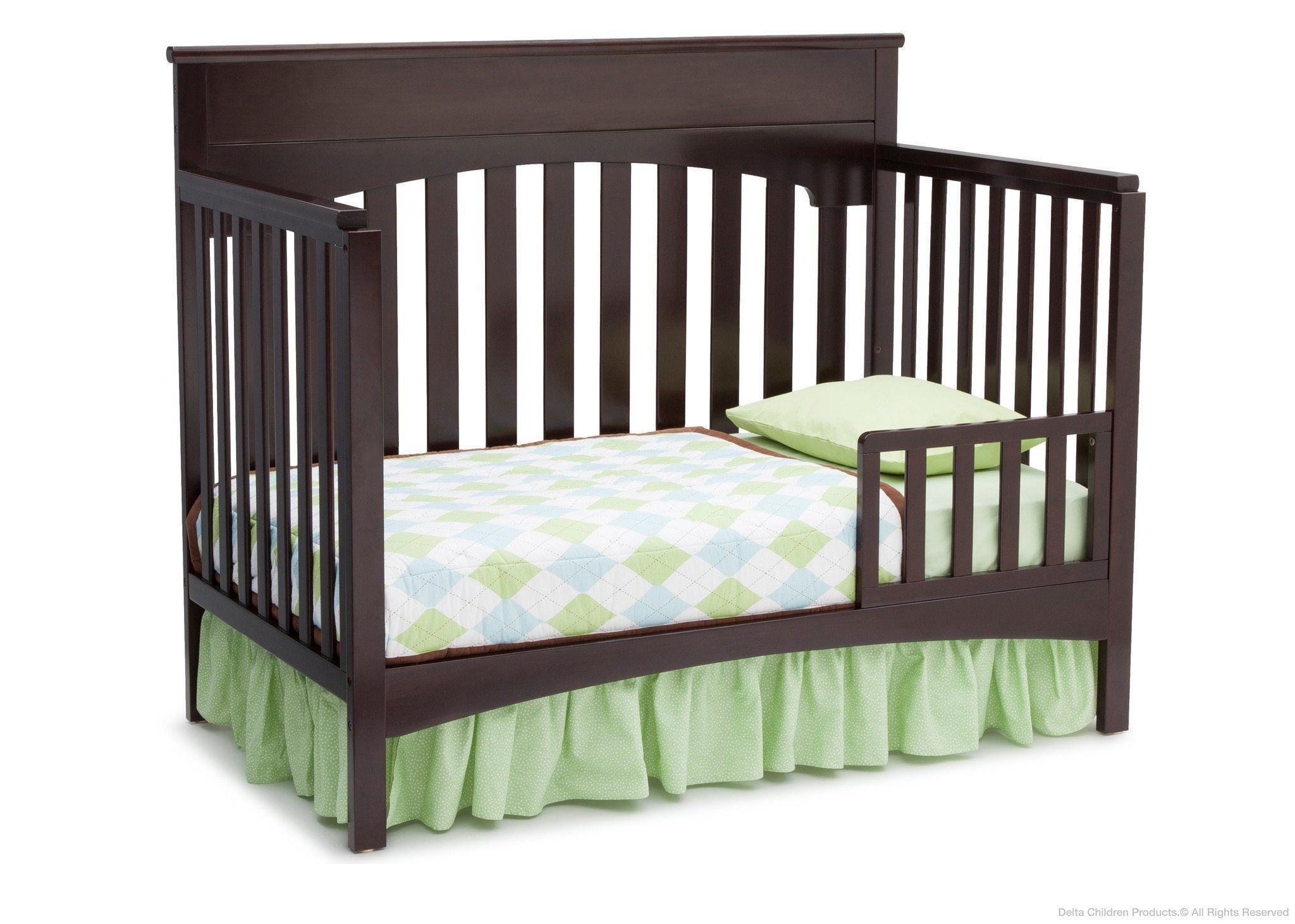 Delta Children Dark Chocolate (207) Bennington Lifestyle 4-in-1 Crib, Toddler Bed Conversion b3b