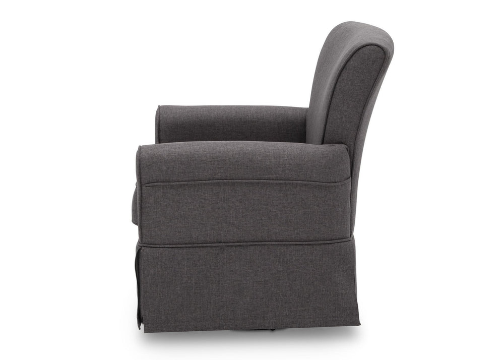 Delta Children Charcoal (931) Epic Glider, Left Side View, e4e