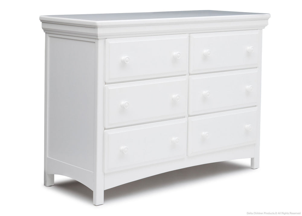 Delta Children White (100) 6 Drawer Dresser Right View a1a