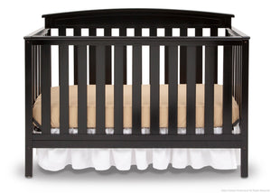 Delta Children Black (001) Gateway 4-in-1 Crib, Crib Conversion Front View a2a