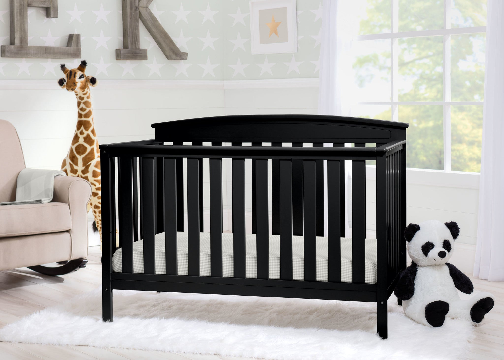Gateway 4 in 1 Crib Black (001)